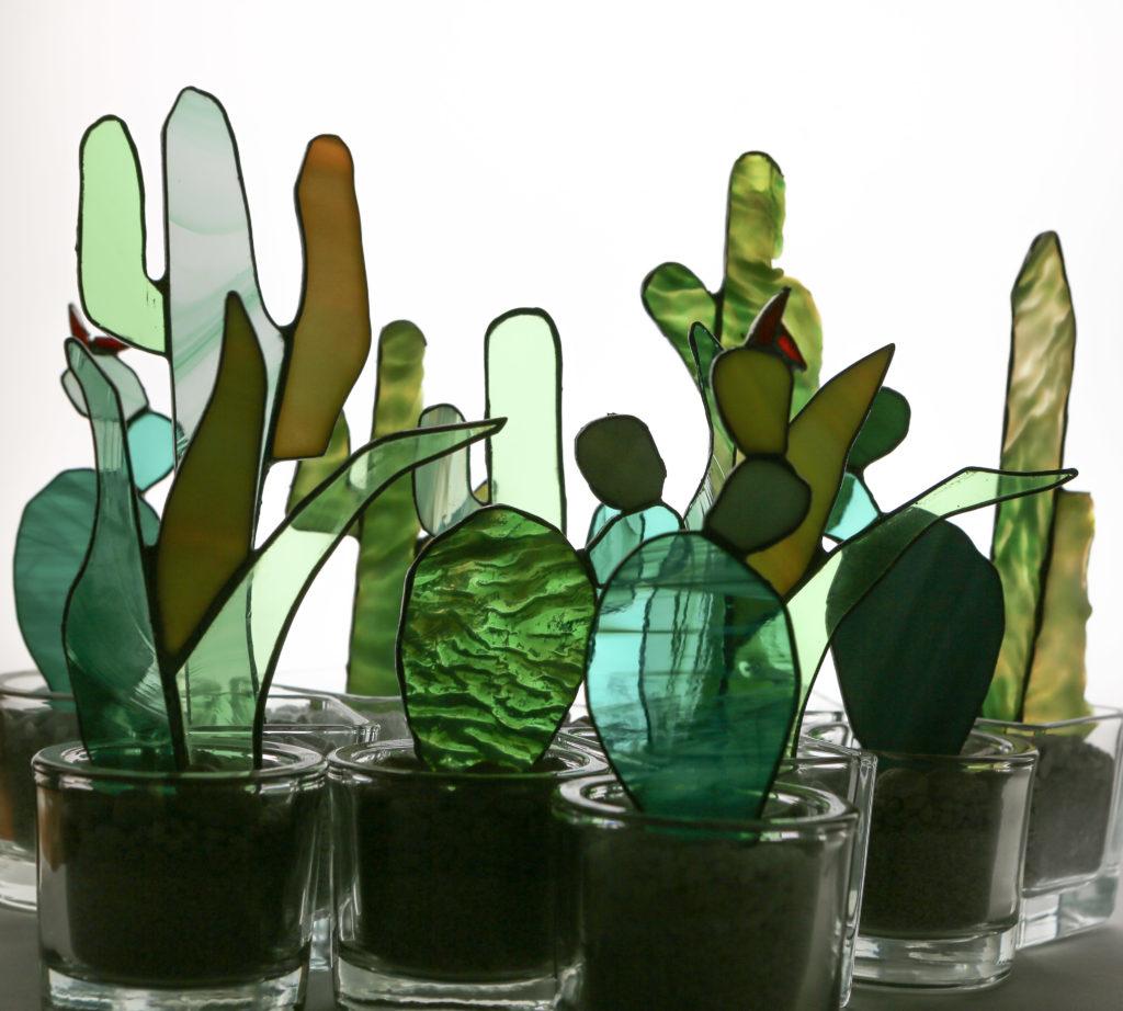 Forêt de Cactus en vitrail